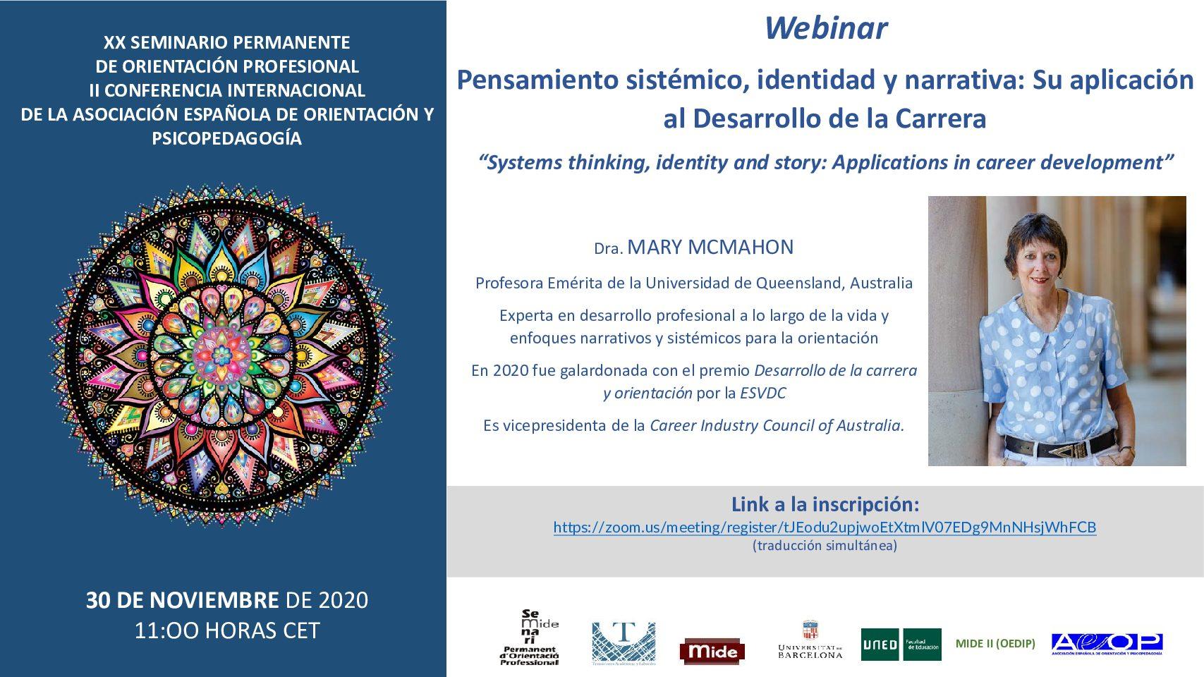 II Conferencia Internacional de la Asociación Española de Orientación y Psicopedagogía (AEOP) y XX Seminario Permanente de Orientación Profesional (SEPEROP)